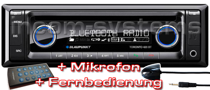blaupunkt toronto 420 bt mikro fernbedienung iphone. Black Bedroom Furniture Sets. Home Design Ideas