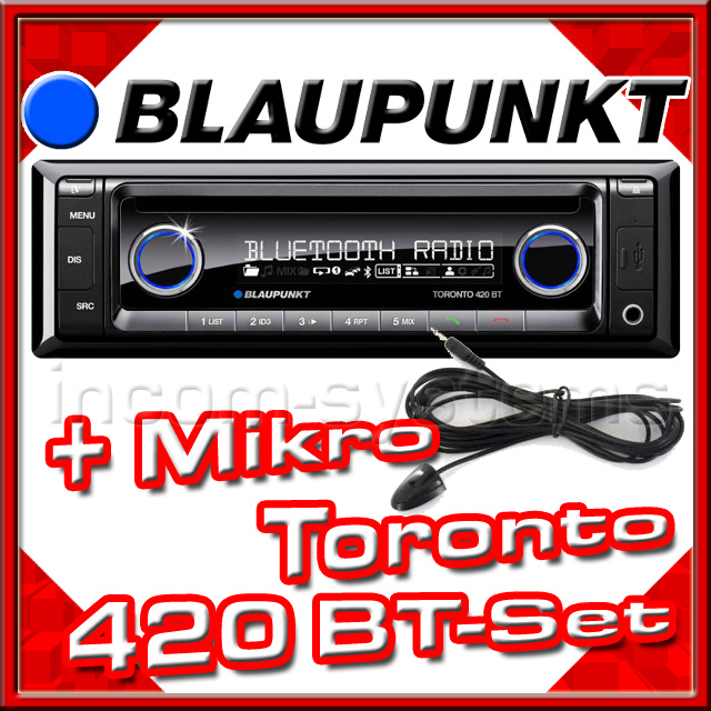 blaupunkt toronto 420 bt mikrofon autoradio iphone. Black Bedroom Furniture Sets. Home Design Ideas