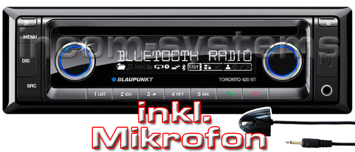 blaupunkt toronto 420 bt mikro autoradio iphone. Black Bedroom Furniture Sets. Home Design Ideas