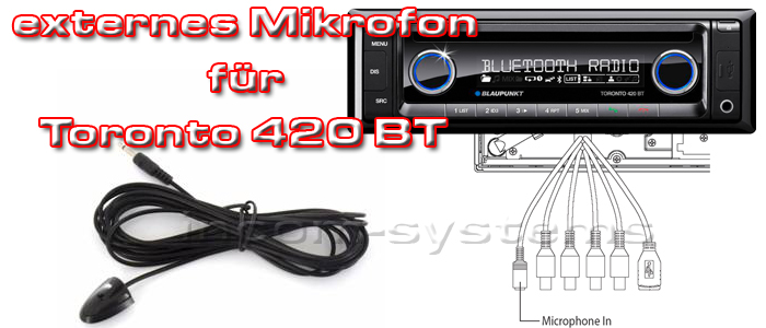 blaupunkt bluetooth mikrofon f r toronto 420 bt extern. Black Bedroom Furniture Sets. Home Design Ideas