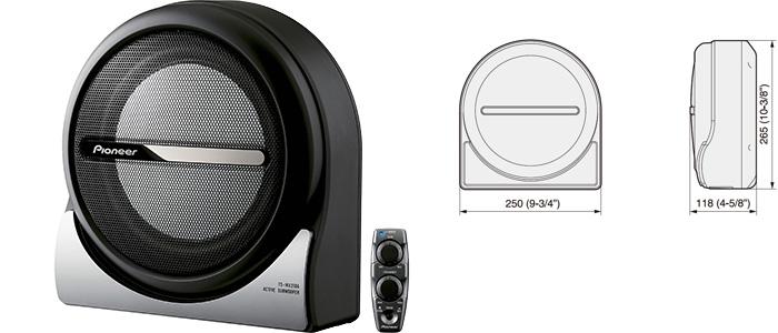pioneer ts wx210a aktiv subwoofer 20 cm 8 150w kompakt. Black Bedroom Furniture Sets. Home Design Ideas